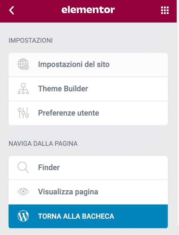 Impostazioni del sito